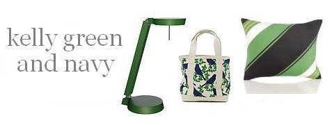 Interior Design Trends: Kelly Green And Navy