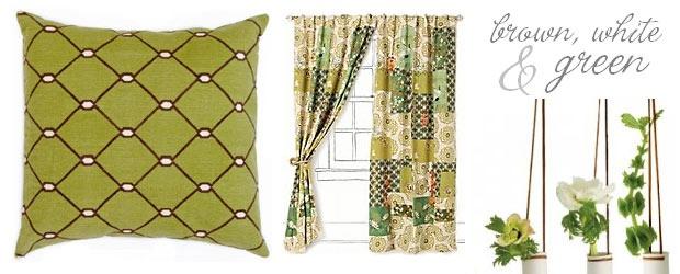 Interior Design Trends: Brown, White & Green