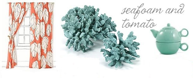 Interior Design Trends: Seafoam &amp; Tomato