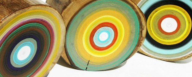 Tracey Melton's Tree Ring Paintings &amp; Other Lovely Layers