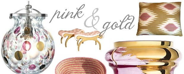 Interior Design Trends: Pink & Gold