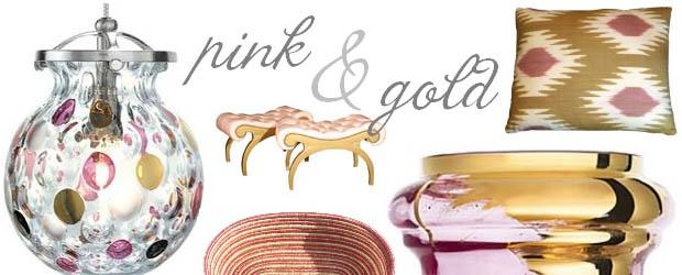 Interior Design Trends: Pink & Gold