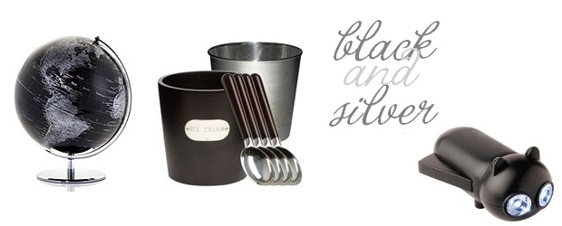 Interior Design Trends: Black & Silver