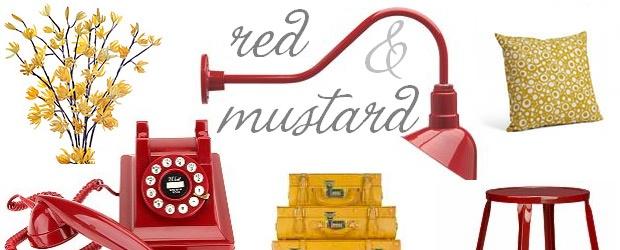 Interior Design Trends: Red & Mustard
