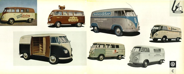 Inspiration - Vintage VW Split-window Logo Buses