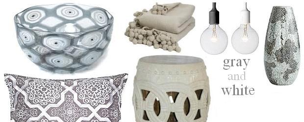 Interior Design Trends:  Gray and White