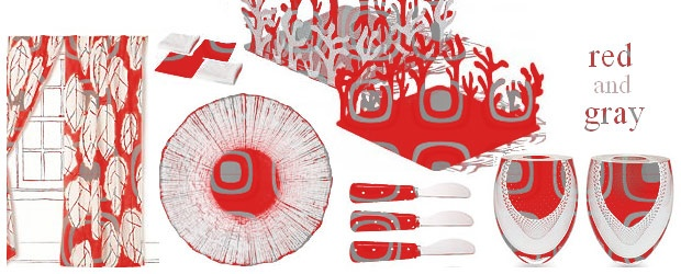 Interior Design Trends: Red & Gray