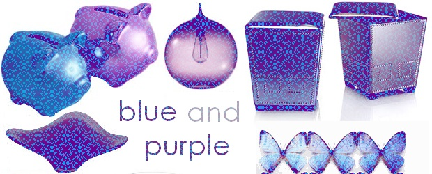 Interior Design Trends: Blue and Purple