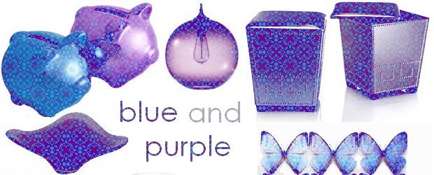 Interior Design Trends: Blue and Purple