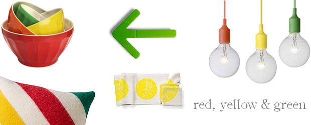 Interior Design Trends: Red, Yellow & Green