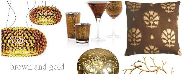 Interior Design Trends: Brown and Gold