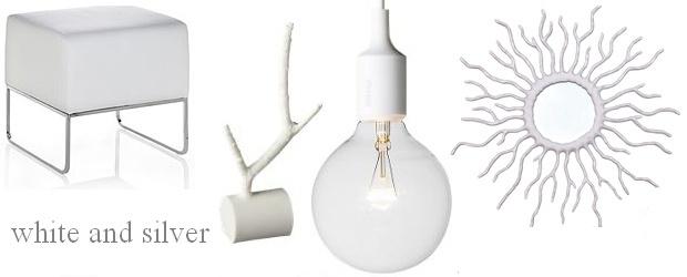Interior Design Trends: White and Silver