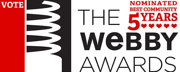 More Webby Love: Best Community Nominee x5!