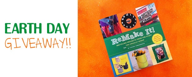 Earth Day Book Giveaway & Recycled T-Shirt Flower Pin Tutorial