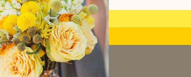 Wedding Color Trend: Yellow & Gray