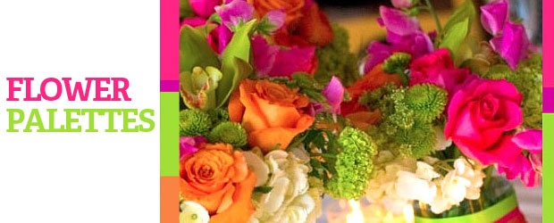 Bright Colors + Interesting Arrangements = Cheaper Wedding Flowers