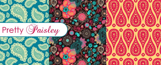 Pretty Paisley Patterns + Paisley Sampler SVGs