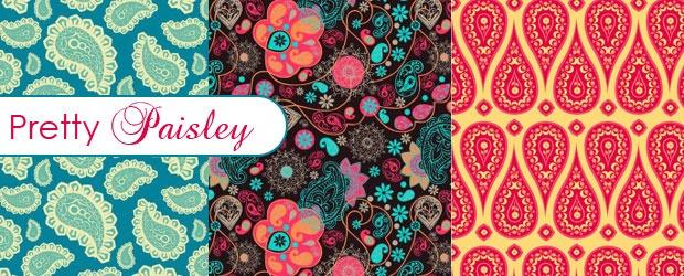 Pretty Paisley Patterns + Paisley Sampler SVGs