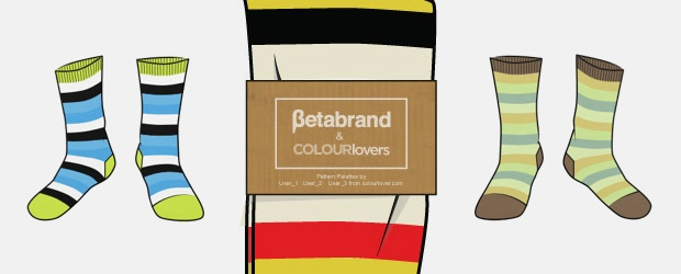 Striped Sock Design Contest with Betabrand... Color Palettes On Your Feet!