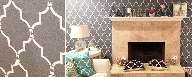 Home Decor Trends: Moroccan Pattern Stencil Wall Tutorial