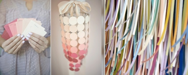 Crafting With Paint Chips. DIY &amp; Art Galore