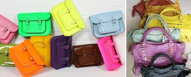 Keeping Up With Fashion Trends. Neon + Colorful Handbags 