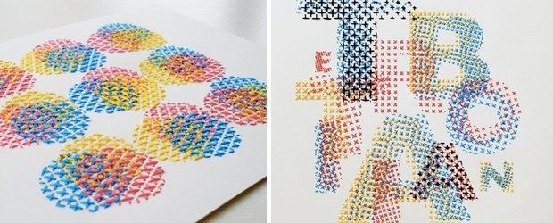 CMYK Embroidery by Evelin Kasikov