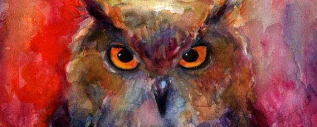 Colorful Owl Art Pieces