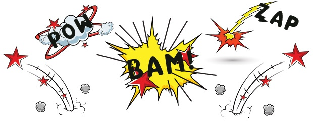 Kapow! Blam! Zap! The Graphics and Fonts of Comic Books