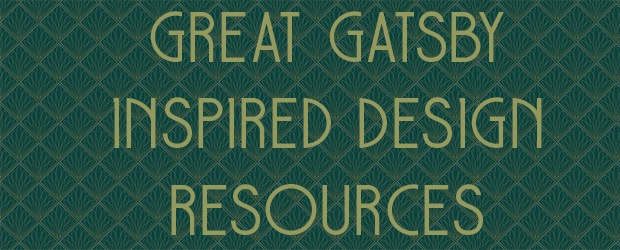 Great Gatsby Inspired Design Resources