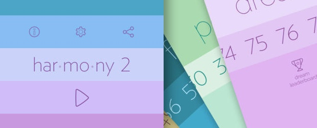 Harmony 2: A Beautiful Color Palette Game for iOS