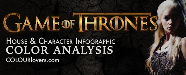 Game of Thrones [ infographic ] Color Analysis: House's & Character's