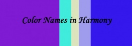 Color Names in Harmony