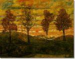Schiele's 4 Trees