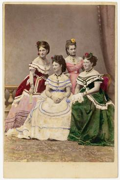 The Carandini ladies, one of Australia's first opera performing families, ca. 1875 / photographer Charles Hewitt (attributed)
