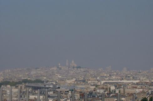 View Monmarte from the Arch de Triumph