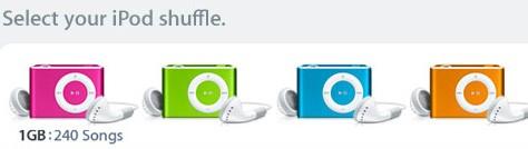 iPod Shuffle: 4 Brilliant New Colors