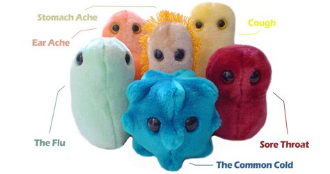 Contagious Color Love: Stuffed GIANTmicrobes
