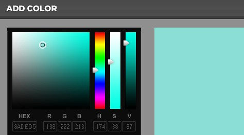 Free Advanced DHTML Color Picker