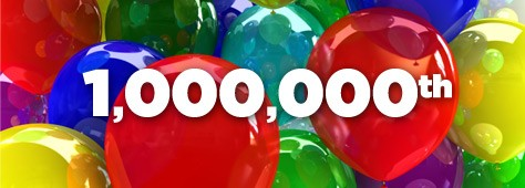 Congratulations! You're Our 1,000,000th Color!