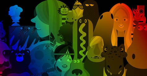 50 Colorful Wallpapers: Full Spectrum Love