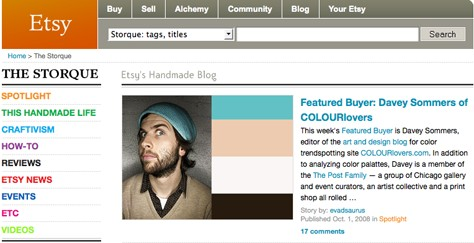 Etsy Featured Buyer: COLOURlovers