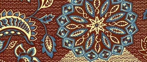 Vintage Color & Design: Purple & Brown Fabric