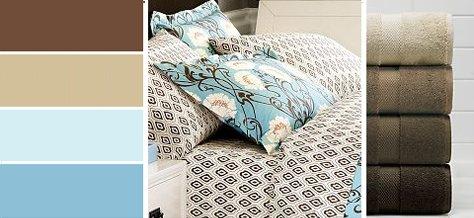 Interior Design Trends: Blue & Brown