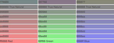 Hexadecimal Color: Grey 88