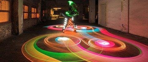 The Colors Of Light Art Performance Photography