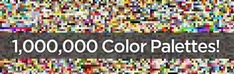1 Million Color Palettes... Thanks for Sharing the Love!