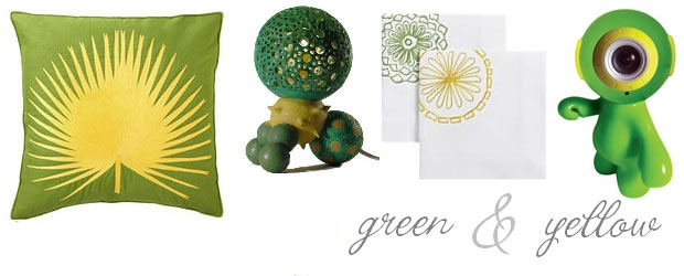 Interior Design Trends: Green & Yellow