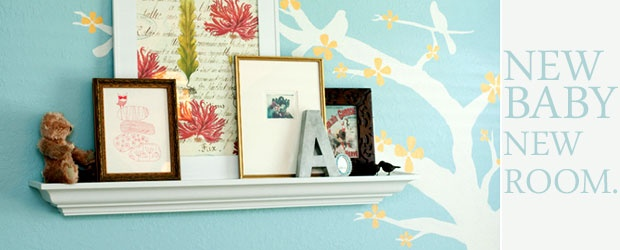 New Baby, New Room: Handmade Coastal Blue Vintage Dreamland