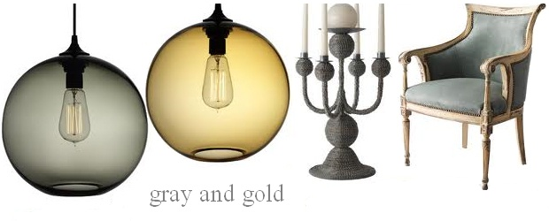 Interior Design Trends: Gray and Gold
